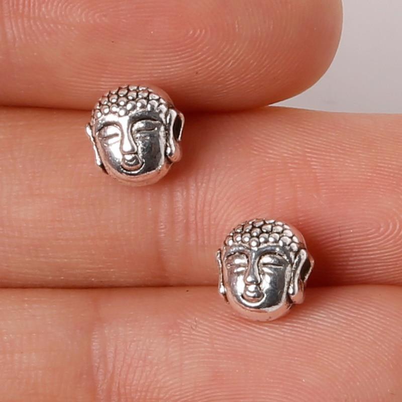 Omh Großhandel 20 Stück Diy Schmuck Zubehör Erkenntnisse Religiöse Buddha Kopf Korallen Raum Perlen Passen Armband Und Kette Pj16 Perlen