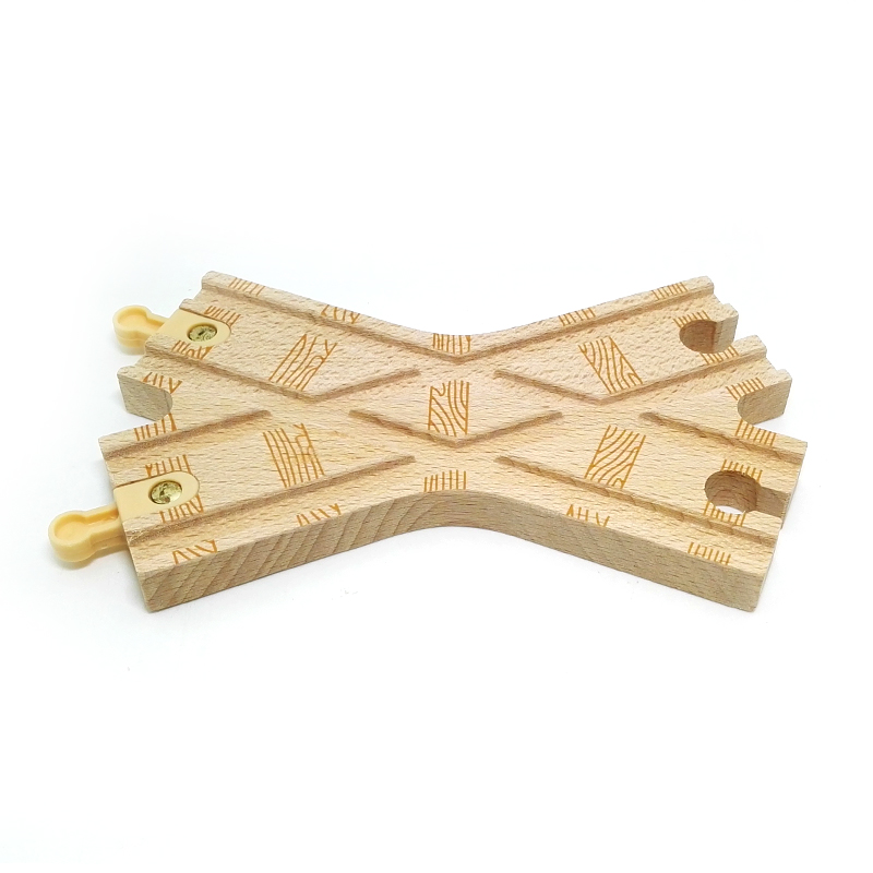p32 X-shaped pattern exquisite railway track Compatible with Thomas wooden train track , Track game Special accessories scarcity