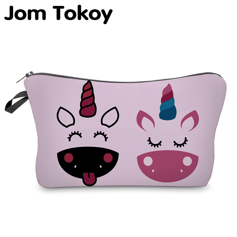 Jom Tokoy 2019 Cosmetic Organizer Bag Make Up Heat Transfer Printing Cosmetic Bag Fashion Women Brand Makeup Bag Hzb908
