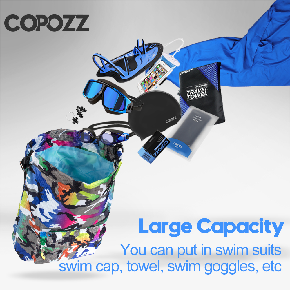 COPOZZ Sport Backpack Large Capacity Combo Wet Dry Separation