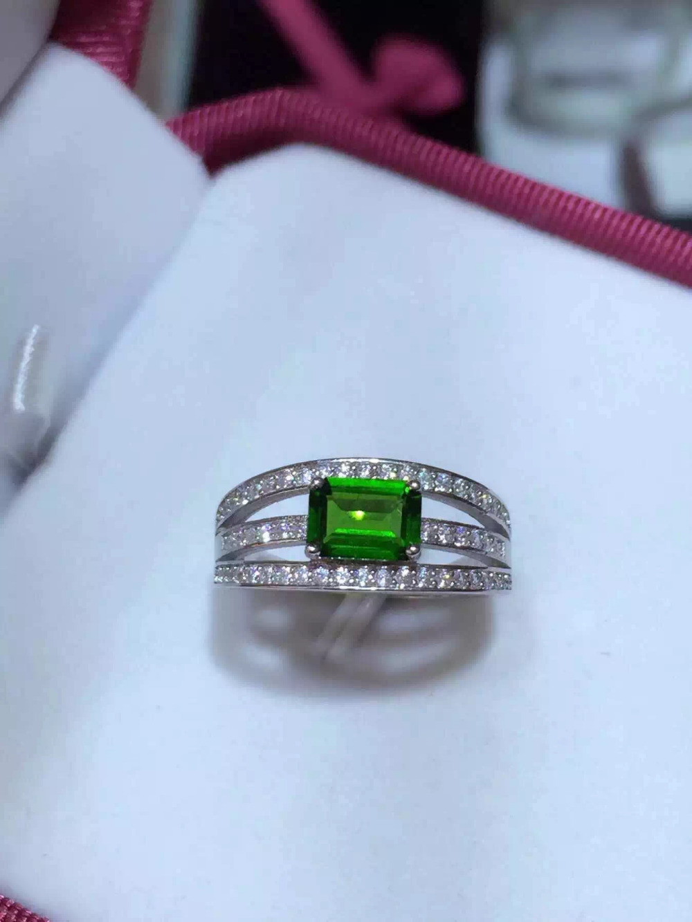 Natural diopside gem ring Natural gemstone ring S925 sterling silver ring trendy elegant row overlapping women gift JewelryNatural diopside gem ring Natural gemstone ring S925 sterling silver ring trendy elegant row overlapping women gift Jewelry
