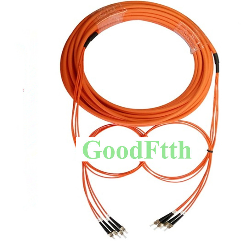 Patch Cord Jumper ST-ST Multimode 62.5/125 OM1 4 Cores Trunk Breakout 2.0mm GoodFtth 100-500m