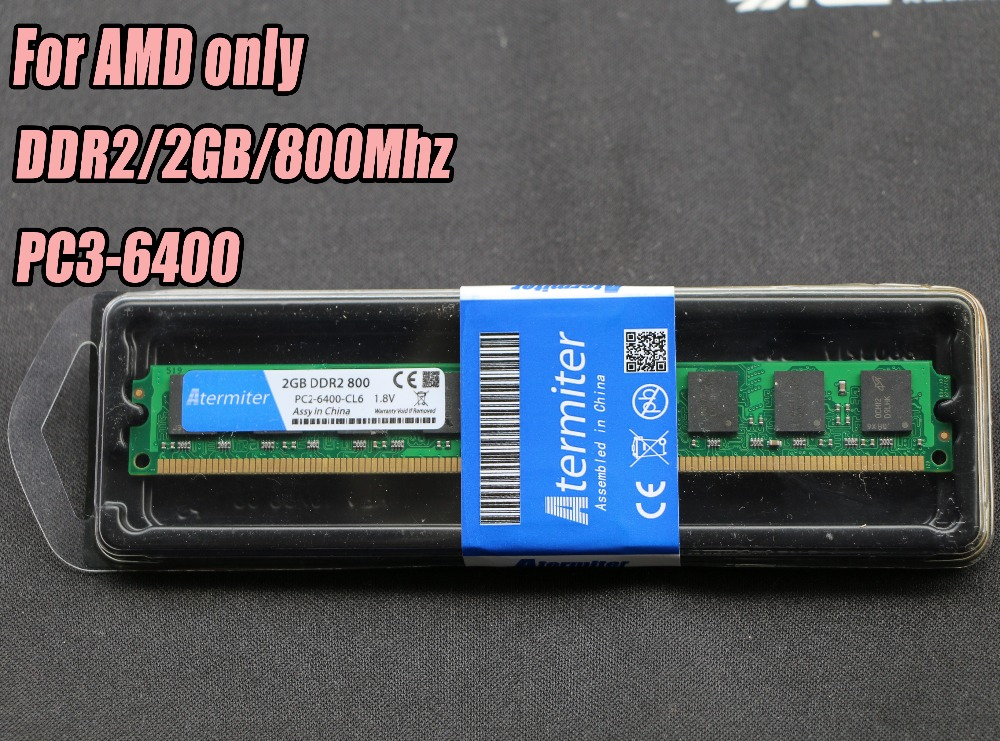 New 2GB DDR2 PC2-6400 800MHz For Desktop PC DIMM Memory RAM 240 pins For AMD System High Compatible 4pcs 4 x 2gb ddr2 800 pc2 6400 800mhz 240pin dimm ram desktop memory only for amd motherboard