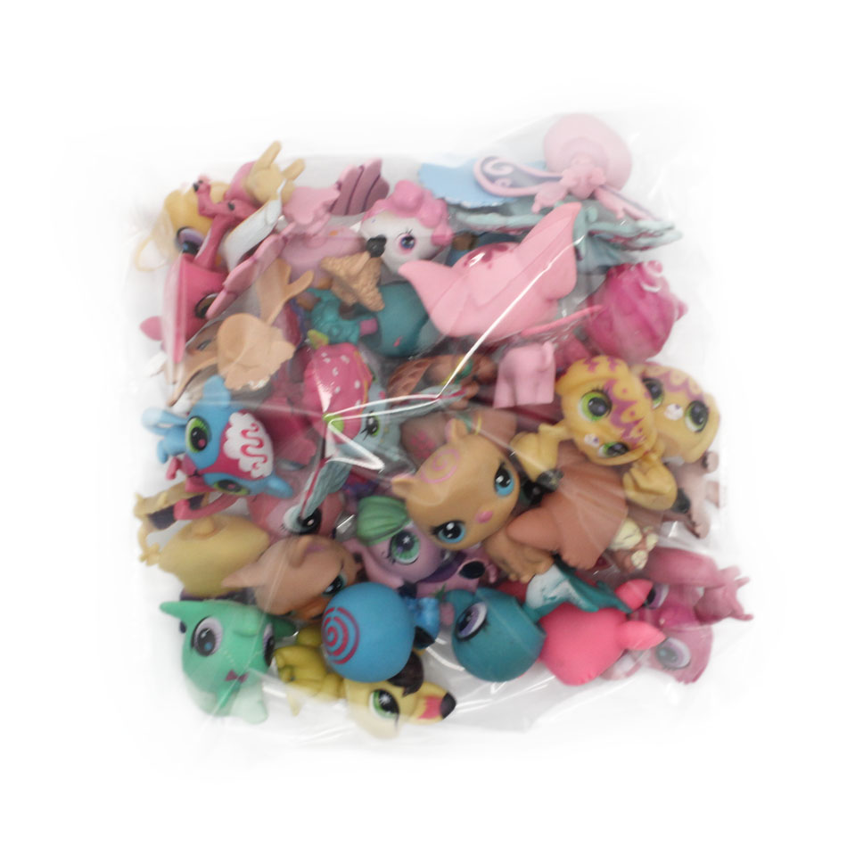 LPS Toy Bag 20Pcs Bag Little Pet Shop MiniFigures Toys Littlest Animal Cat Patrulla Canina Dog
