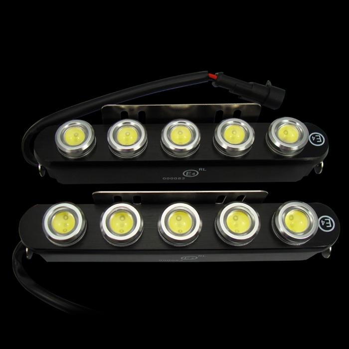 E4 CE approved high power led car/auto drl daytime running lights  5LEDS 10W LED Driving Light, Fog Light электросамокат ezip e 4 5
