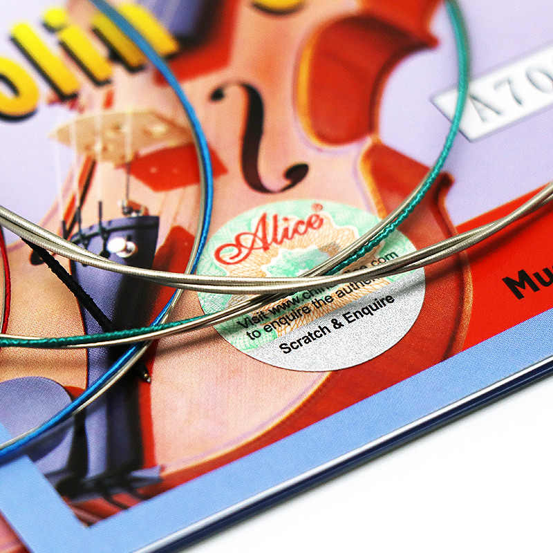 1 PC Senar Biola E D G untuk 1/8 1/4 1/2 3/4 4/4 Ukuran Umum-Alice A703 Biola aksesoris