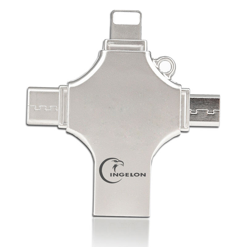 Dropship OTG USB Flash Drive For IPhone X/8/7 Plus/6/6s/5/SE Ipad Metal DJ Pendrive HD Memory Stick 16G 32G 64G 128GFlash Driver