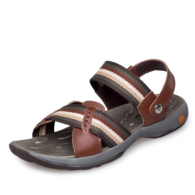 New 2017 Top Quality Mens Sandals Outdoor Genuine Leather Summer Cool Light Weight Beach Casual Shoes flats Big Plus size 38-47