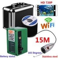 HD 1000TVL Camera Wifi Wireless 15M 20M 30M 50M Underwater Fishing Camera Video Recording For IOS