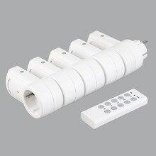 5 беспроводные коммутаторы разъем дистанционное управление мощность розетки электрические вилки адаптеры с ЕС Plug белый Оптовая Прямая поставка 2019