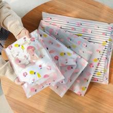1 pçs bonito dos desenhos animados saco de armazenamento de viagem à prova dwaterproof água roupa interior sacos de classificação zip lock maquiagem organizador bolsa de bagagem sapatos saco de embalagem
