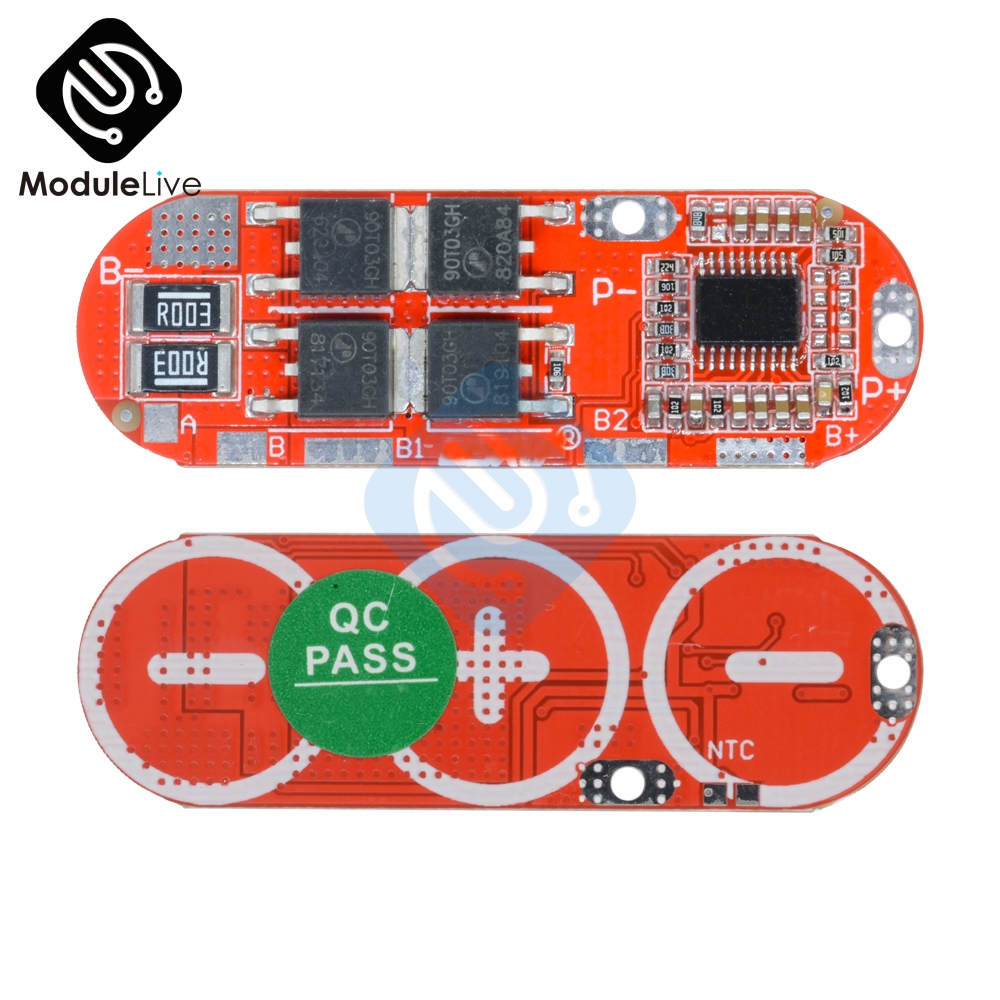 3S/4S/5S 25A 3S 12.6V 4S 16.8V 5S 21V 18650 BMS Li-ion Lithium Battery Protection Circuit Charging Board Module PCM Polymer image