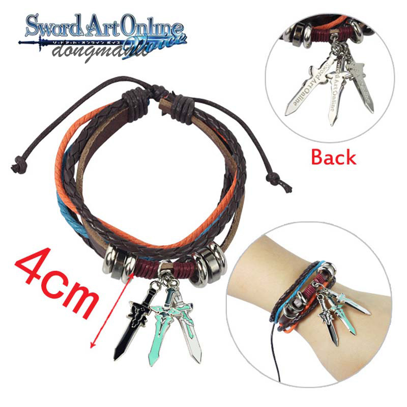 MF0480 New Arrival Sword Art Online Unisex Cosplay charm Wrist Bracelet Anime Wristband Jewelry jewelry accessories