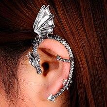 8fa22972b778 5 unids lote personalidad Gothic Punk dragón Vintage Wing Ear Cuff  pendientes para las mujeres