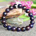 Natural Genuine Blue Purple Sugilite Stretch Finish Bracelet Round beads 10.5mm 03744