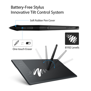 Image 4 - HUION INSPIROY Q11K V2 Wireless Digita Pen Tablet Battery free Designed for Drawing Graphic Painting Tablet with 8192 Levels