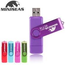 New Usb 3.0 Miniseas OTG USB flash drive 8GB 16GB 32GB 64GB 128GB Pendrive High speed pen drive for SmartPhone/Tablet/PC