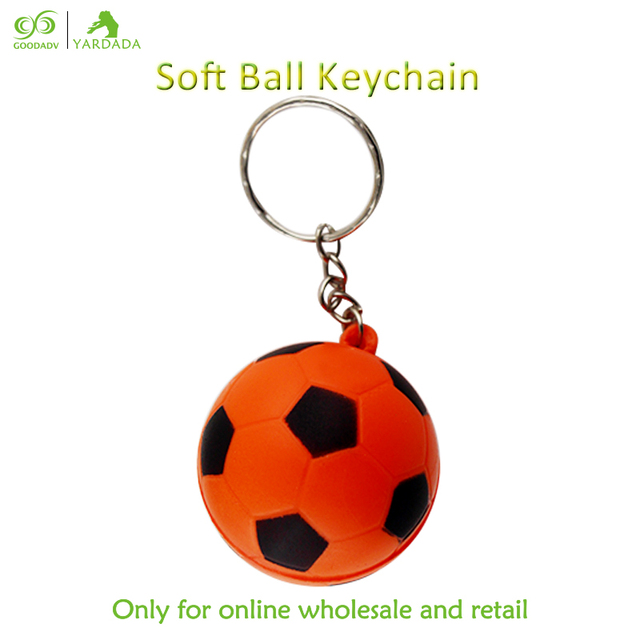 Novelty Return Gifts For Kids Birthday Party Football Keyringskid Toy PU Foam Floating Soccer Ball Keychain Bag Pendant Stock