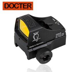 Automático iluminar tactical reflex red dot sight para airsoft caça rifle escopo com 20mm montagem e glock montar presente caixa