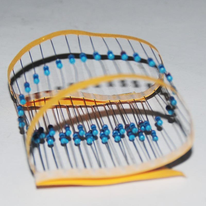 100pcs Resistor Pack 1000R 0.25 Watt Resistencias 0.25W Resistance 1000ohms Metal Film 1/4 Watt 1K OHM  Resistance 1% Weerstand