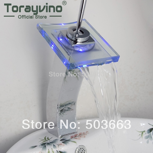 No Need Battery Beautiful Led Bathroom Faucet Chrome Finish Deck Mounted  Basin Sink Faucet Mixer Tap