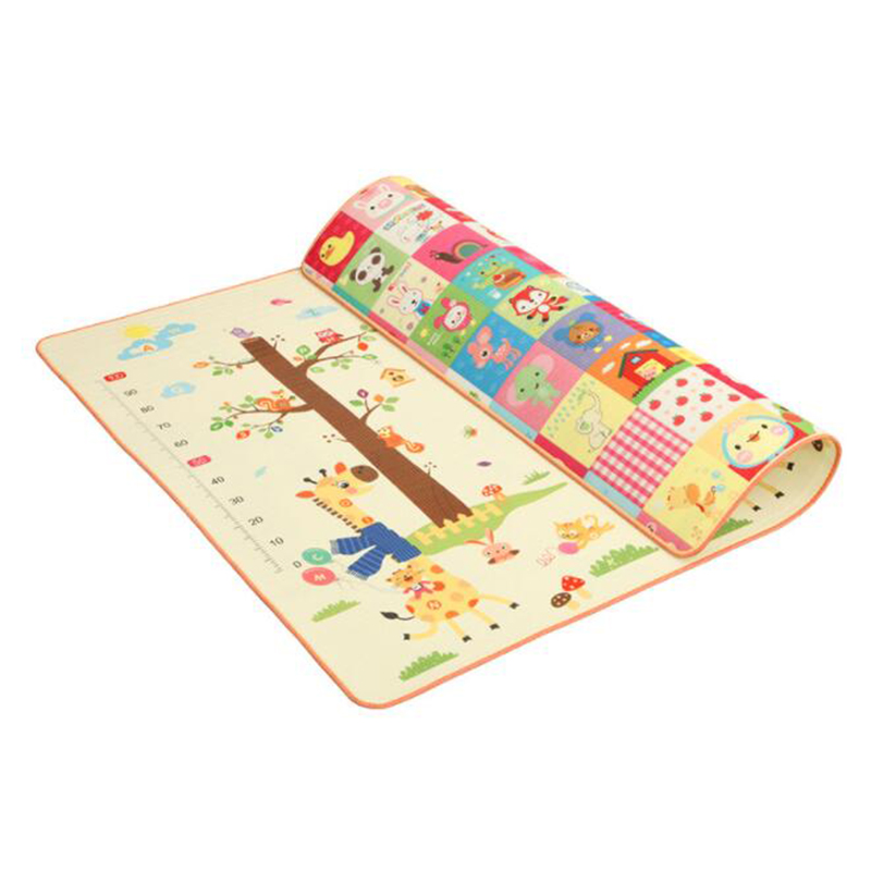 Baby Crawling Play Mat Kids Rug Puzzle Double-side Children's Mat EPE Giraffe Measure Height Developing Non-slip Playmat Carpet