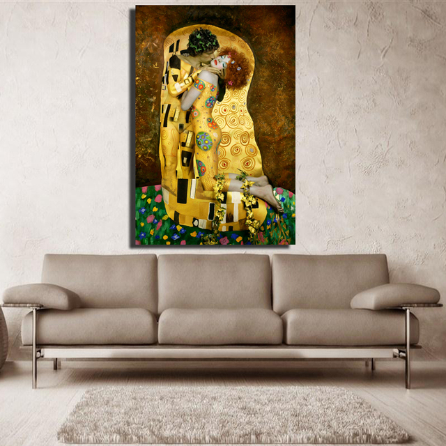 Original famous Paint The Kiss by Gustav Klimt wall painting for home decor oil painting art painting on canvas No Framed