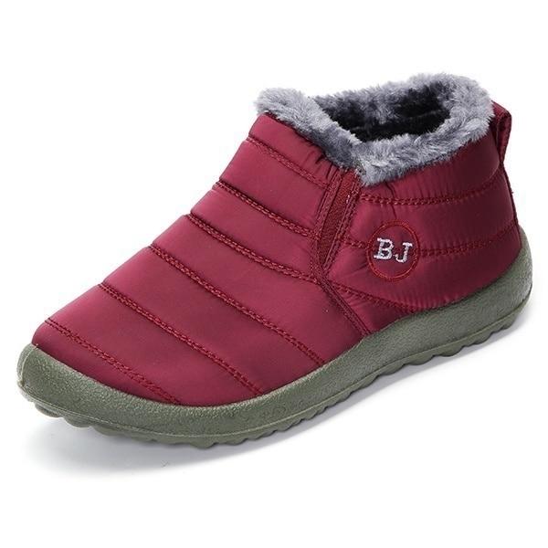 Chaussures Main Laine Pékin Casual À La Cheville rd Bk Femmes Chaud Imperméable Coton forme Vieux Hiver Bottes Plate Sycatree Neige bu wq4PpxX