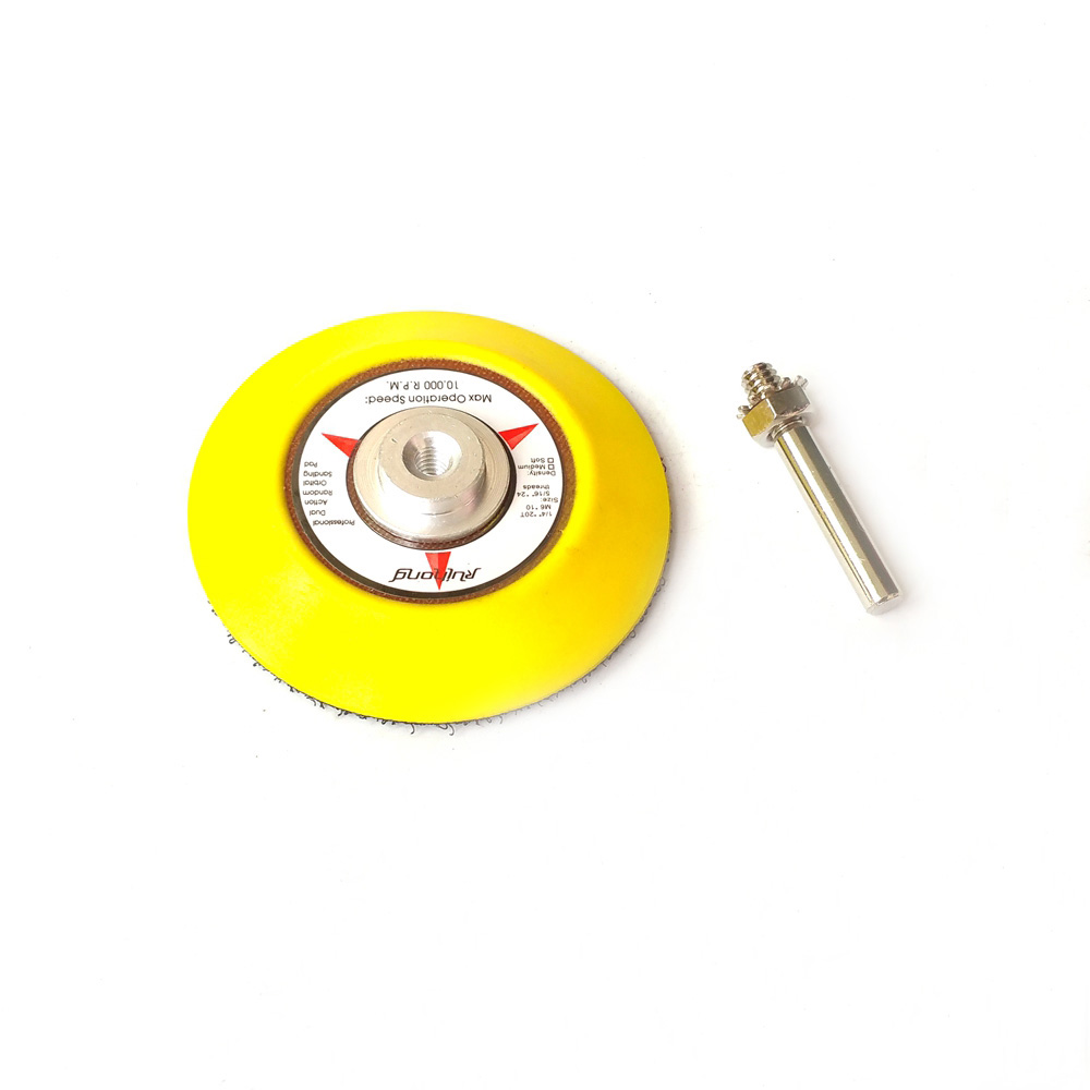 """Image 3 - 1 piece 3"""" / 2"""" Back up Pad Nozzle for Drill Hook & Loop Sanding Disc Air Sander Die Grinder Accessories-in Abrasive Tools from Tools"""