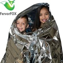 210*130 см водонепроницаемое одеяло для спасения при аварийной ситуации фольга термальное пространство первой помощи Серебряная спасательная занавеска открытый