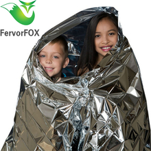 210*130CM Water Proof Emergency Survival Rescue Blanket Foil Thermal Space First Aid Sliver Rescue Curtain Outdoor