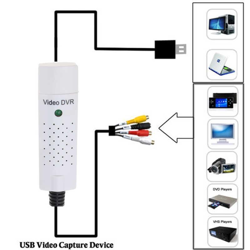 Kebidumei adaptador de captura más fácil gorra USB dispositivo de captura de vídeo USB 2,0 fácil de tapar vídeo TV DVD VHS DVR para win10 venta al por mayor