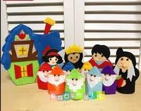 Fairy tale means even Fabric Felt kit Non woven cloth Craft DIY Sewing set Felt Handwork Material DIY needlework supplies