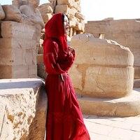 Бесплатная доставка Новинка 2017 года красная весна и осень красный Винтаж цельный длинное платье середины икр Для женщин полые Длинные фона