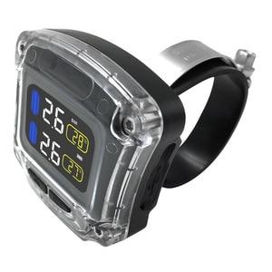 Image 3 - M3 B אלחוטי אופנוע TPMS זמן אמת צמיגי ניטור מערכת אוניברסלי 2 חיצוני פנימי חיישני LCD תצוגה
