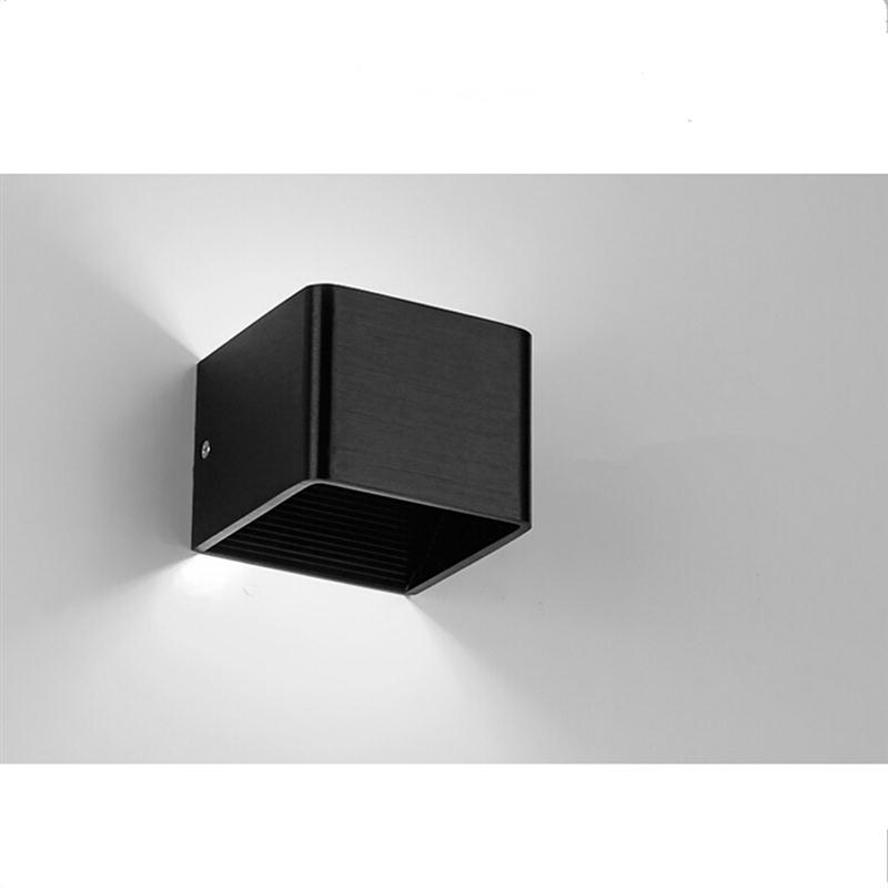 ФОТО 5W Creative Wall Sconces Rectangle Led Light Fixture Up & Down Lighting Lamp With Pure White Light Home Lighting Bedside Lamp