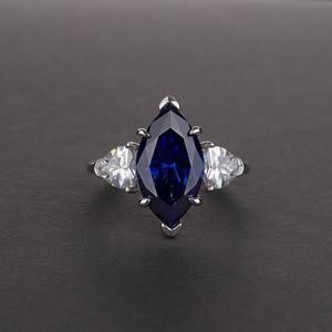Image 3 - OneRain Vintage 100% 925 Sterling Silver Mariquesa Sapphire Topaz Citrine Wedding Engagement Couple Lover Women Men Ring Jewelry