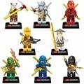 8 Pçs/lote Ninjagoes Compatível Com Arma Ninja Lloyd Cole Jay Kai Zane Nya Building Blocks Crianças Brinquedo de Presente