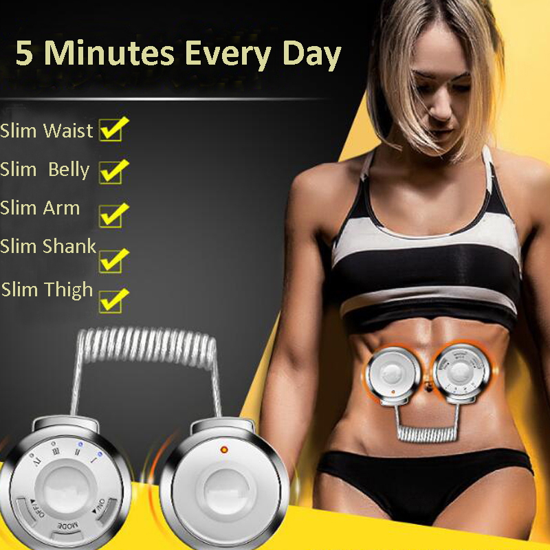 RF Radio Frequency Waist Abdominal Fitness Massage Machine Body Trimming Exercise Lose Weight Slim Belt Muscle Stimulator