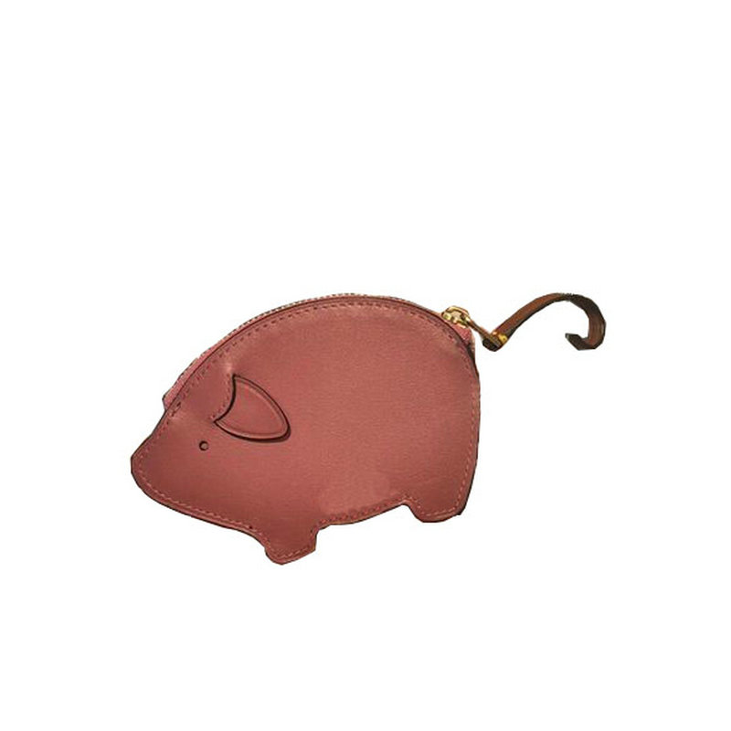 4a610e32c6e7 Trong Genuine leather handmade cute pig coin purse girl's mini piggy card  holder women's shaped bag wallet with funny tail-in Coin Purses from  Luggage ...