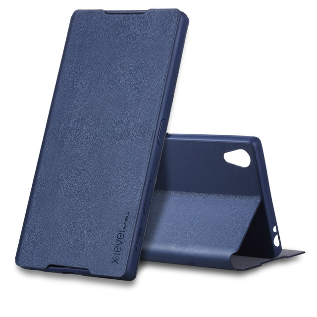 timeless design e1b03 a4405 US $9.99 |X Level FIB Color For Sony Xperia Z5P Leather Flip Cover For Sony  Xperia Z5 Premium / Z5 Plus Z5+Bussiness Leather Wallet Case-in Flip Cases  ...
