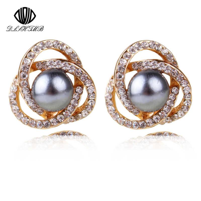 Fashion Brand Hot Sale Simulasi Pearl Earrings Brinco Mode 3 Warna Untuk Choise Manik-manik Anti-alergi anting perhiasan untuk wanita