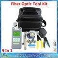 15 em 1 Kits de Ferramentas De Fibra Óptica FTTH com Fibra cutelo-70 ~ + 10dBm Medidor de Potência Óptica Visual de Falhas Lcator 3-5 KM e Stripper