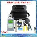 15 en 1 Kits de Herramienta de Fibra Óptica FTTH con Fibra cuchillo-70 ~ + $ number dbm Medidor de Potencia Óptica Visual de Fallos Lcator 3-5 KM y Stripper