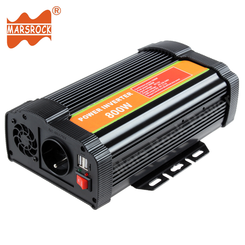 800W 12V 24V DC to 110V 220V AC Off Grid Modified Sine Wave Sloar Power Inverter with USB Port for Home Office Hardware Digital solar power on grid tie mini 300w inverter with mppt funciton dc 10 8 30v input to ac output no extra shipping fee