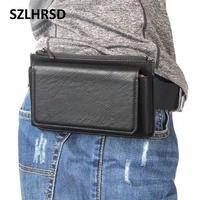 SZLHRSD Multi Functional Purse Belt 5 5 Inch Mobile Phone Leather Case Cover For Oukitel C9