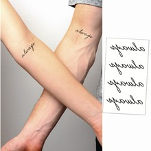Small Tattoo Sticker Always Word With Special Meaning Waterproof Refers To The Temporary Body Tattoo Sticker Art