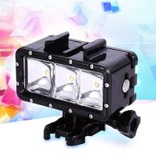 Водонепроницаемый LED Flash Video Light Подводный Дайвинг Фонарик Лампы Крепление для GoPro Hero 4/3 + SJCAM/Xiaomi Yi Аксессуары 1679479
