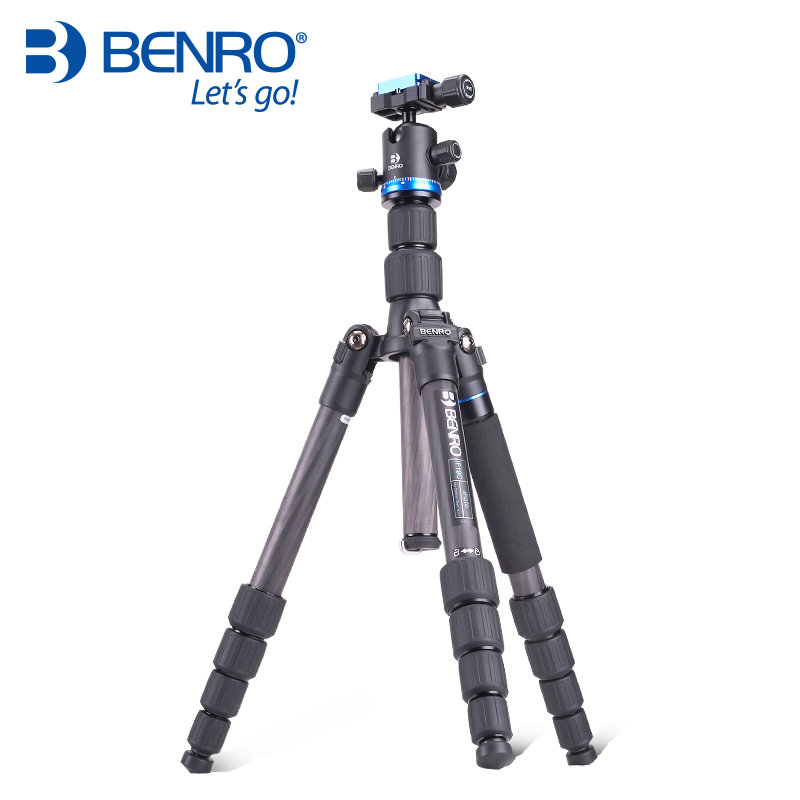 Berno New Carbon Fiber Tripod Kit SLR Camera Tripod Monopod With Professional Head Portable Photography Bracket Support IF19C ashanks carbon fiber camera monopod 705b professional 34 2mm foot tube diameter with monopod head free shipping