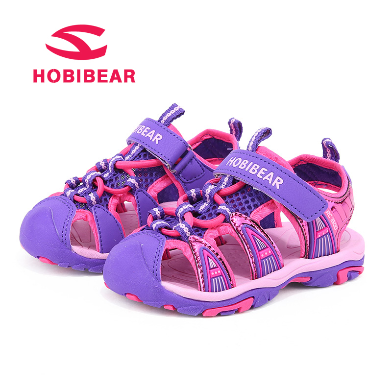 HOBIBEAR Summer Girls Sandals Boys Shoes For Kids Beach Children Shoes Fashion Ankle-Warp Boys Sport Sandals Breathable Kid Shoe